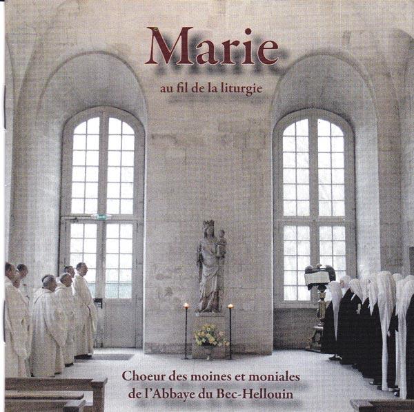 Pochette de notre Cds de chants religieux, Marie au fil de la liturgie